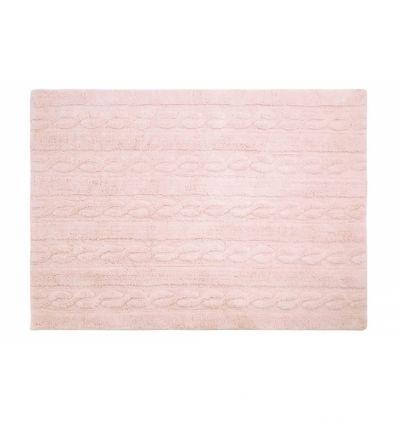 lorena canals - tappeto lavabile trecce (rosa)