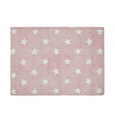 lorena canals - cotton rug full stars (pink)