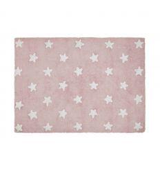 lorena canals - tappeto lavabile stelle piene (rosa)