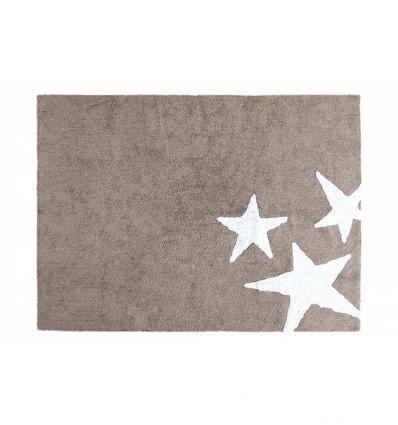 lorena canals - tappeto lavabile tre stelle (lino)