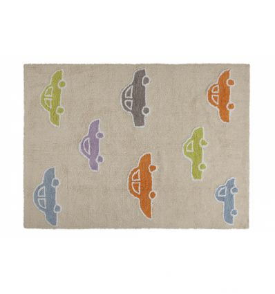 lorena canals - cotton rug cars (beige)