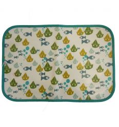 linna morata - place mat fish (lightblue)