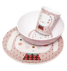 petit monkey - set pappa (coniglio rosa)