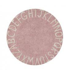 lorena canals - cotton round rug alphabet (vintage nude)
