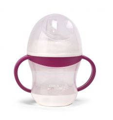 childhome - cup anti spill with handle (fuchsia)