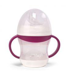 childhome - bicchiere antigoccia con manici (fucsia)