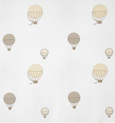 casadeco - embroidered fabric balloons (beige)