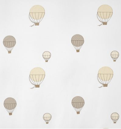 casadeco - embroidered fabric balloons montgolfieres brodees (beige)