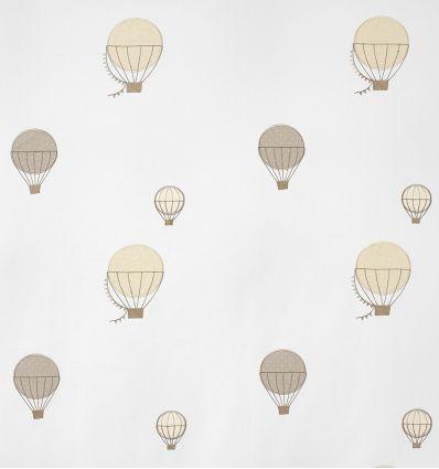 casadeco - tessuto d'arredo ricamato mongolfiere montgolfieres brodees (beige)
