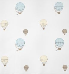 casadeco - embroidered fabric balloons (light blue)