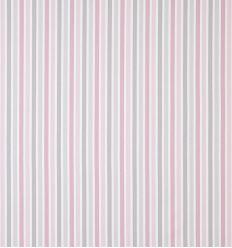 casadeco - tessuto d'arredo righe rayure (rosa/grigio)