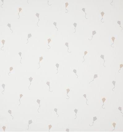casadeco - tessuto d'arredo aquiloni cerfs volants (grigio/beige)