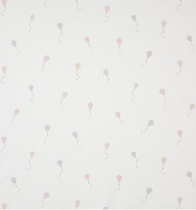 casadeco - tessuto d'arredo aquiloni cerfs volants (rosa/beige)