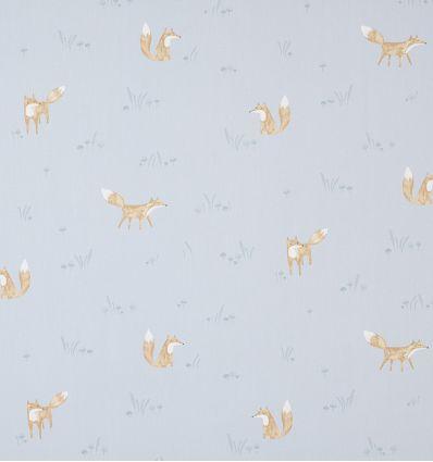 casadeco - tessuto d'arredo volpi renards (azzurro)