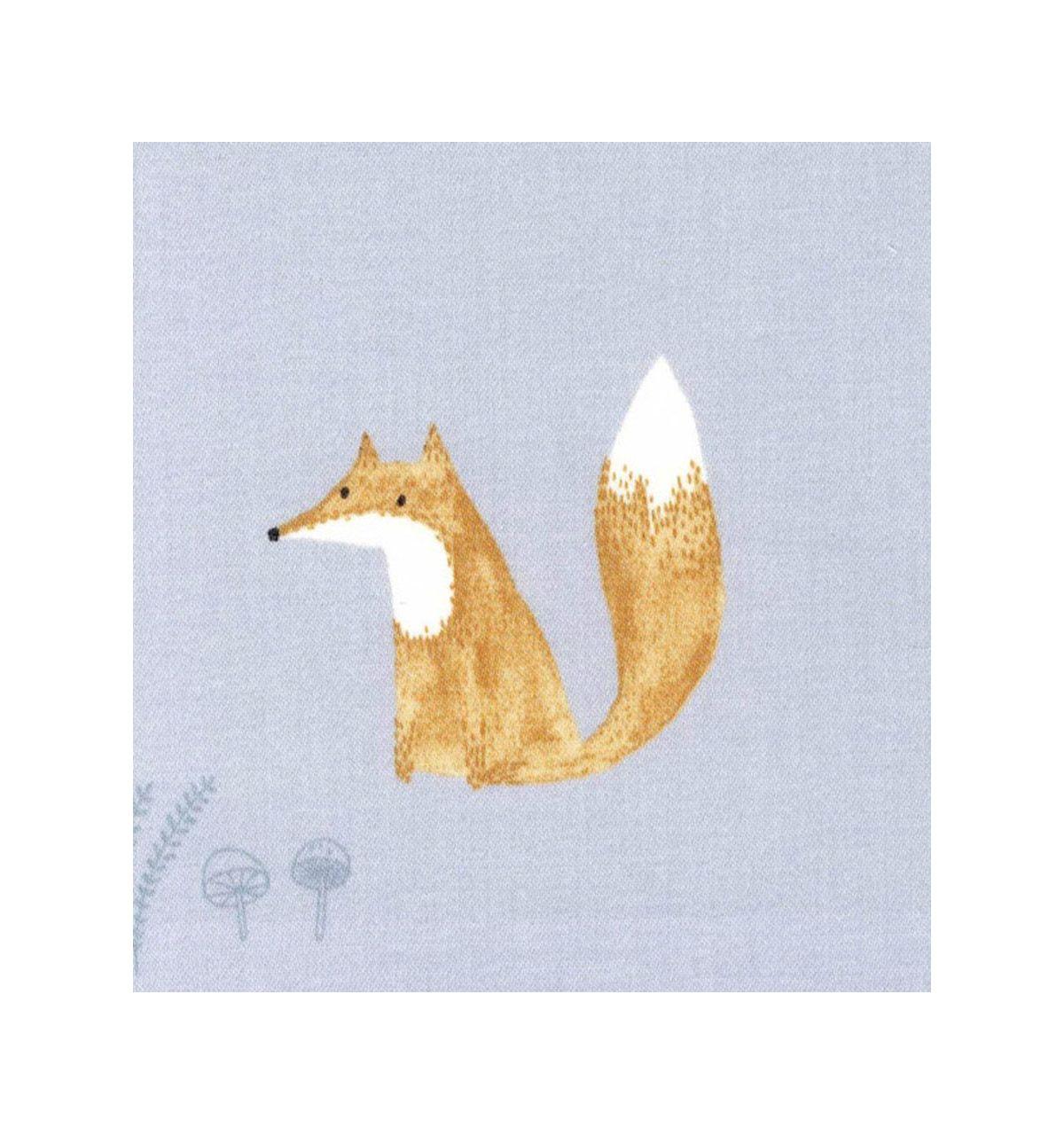 Casadeco tessuto d 39 arredo volpi renards celeste for Arredamento volpi