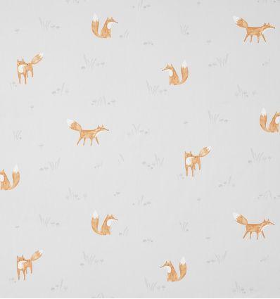 casadeco - fabric firefox renards (grey)