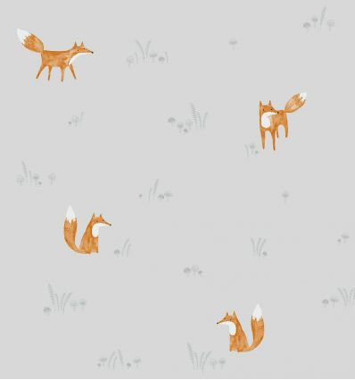 casadeco - wallpaper firefox renard (grey)