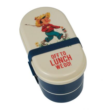 lunch box with cutlery vintage boy