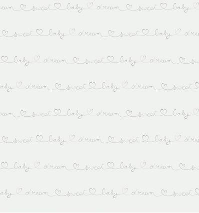 casadeco - carta da parati scritte wording (bianco/grigio caldo)