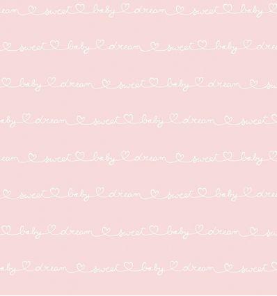 casadeco - carta da parati scritte wording (rosa)