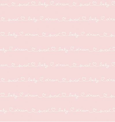 casadeco - wallpaper words wording (rose)