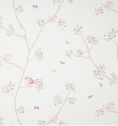 casadeco - fabric little birds oiseaux (rose)