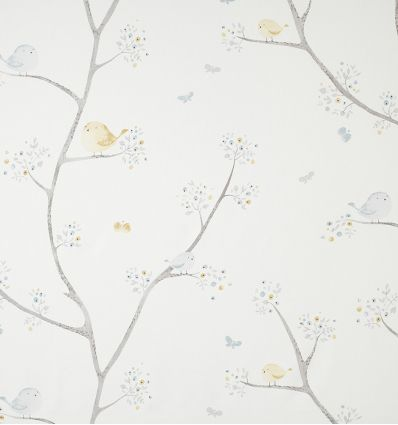 casadeco - fabric little birds oiseaux (light blue)