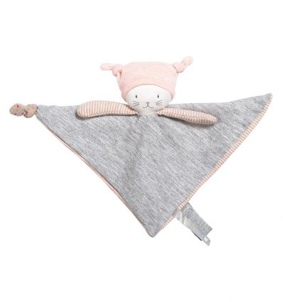 moulin roty - moon the cat baby comforter les petits dodos