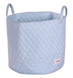 minene - large storage basket dotty (blue/white)