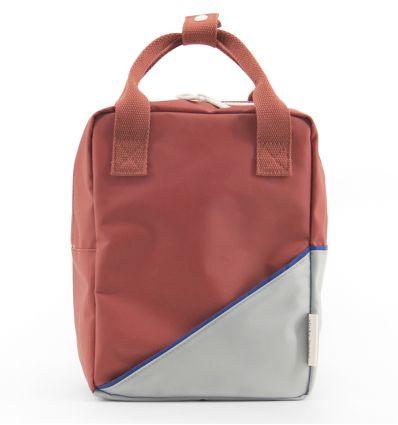 rilla go rilla - backpack small (red/powder-blue)