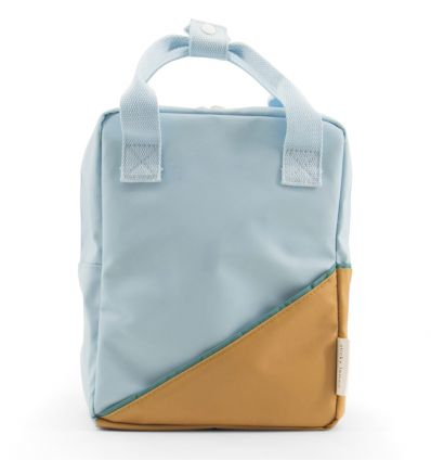 rilla go rilla - backpack small (light-blue/mustard)