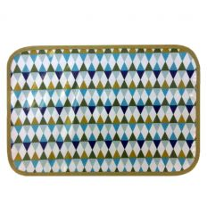 linna morata - place mat triangles (green)