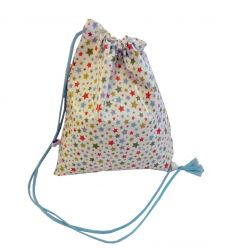linna morata - drawstring bag stars (light blue)
