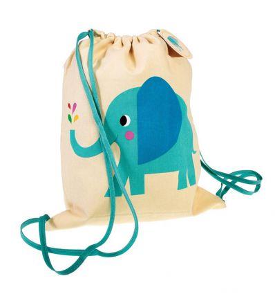 drawstring bag elvis the elephant