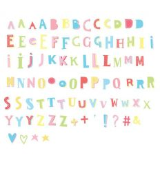 a little lovely company - lightbox set of 85 letters and symbols (funky colour)