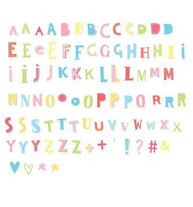 a little lovely company - set 85 lettere e simboli per lightbox (funky funky colour)
