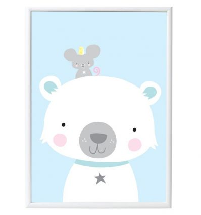 a little lovely company - poster polar bear & co