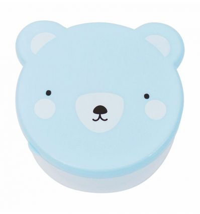 a little lovely company - snack boxes bear (blue)