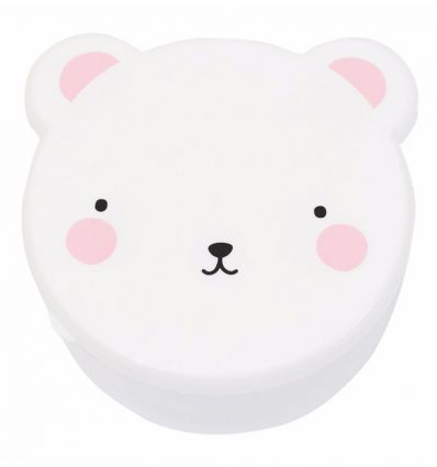 a little lovely company - snack boxes bear (white/pink)