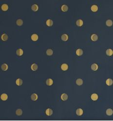 "bartsch - wallpaper ""moon crescents"" (navy ink)"