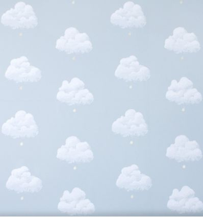 bartsch - carta da parati nuvole cotton clouds (blue smoke)