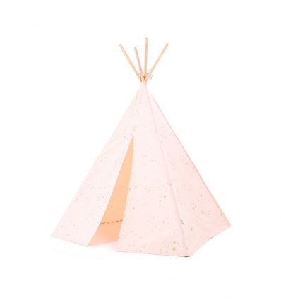 nobodinoz - teepee phoenix (gold stella/dream pink)
