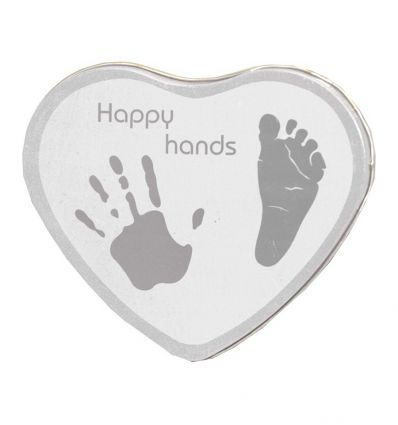 xplorys - baby handprint box happy hands (silver)