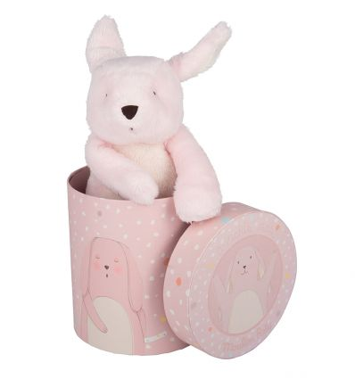moulin roty - pink rabbit soft toy a petit pas
