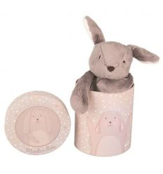moulin roty - grey rabbit soft toy - a petit pas