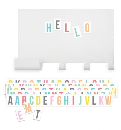 tresxics - magnet note board hook and multicolour letters