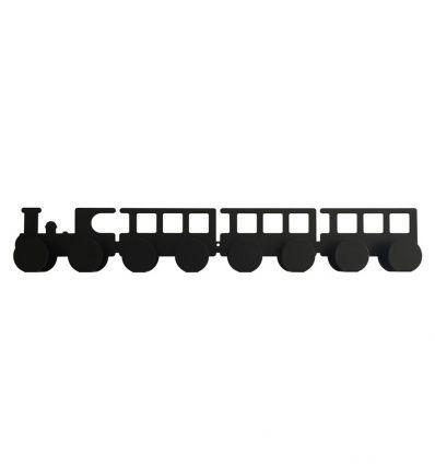 tresxics - train wall hanger (black)