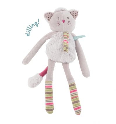 moulin roty - grey cat rattle les pachats
