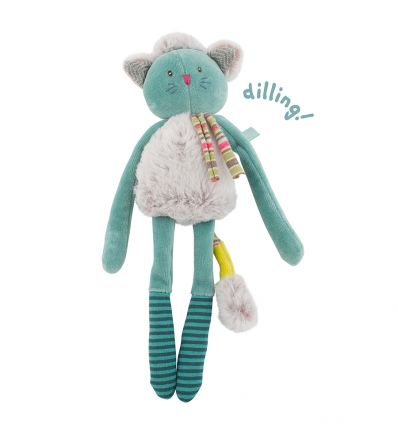 moulin roty - green cat rattle les pachats
