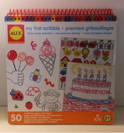 """alex toys - album da colorare """"i miei primi scarabocchi"""""""